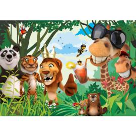 Fotobehang poster 0087 kinderkamer jungle zoo