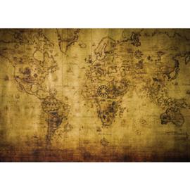 Fotobehang 1781 wereldkaart landkaart vintage sepia