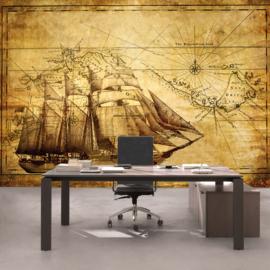 Fotobehang 2650 schip vintage kaart
