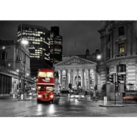 Fotobehang poster 0538 engeland london bus rood dubbeldekker