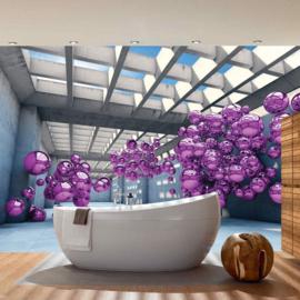 Fotobehang 3246 Kunst abstract architectuur luchtbellen ballon paars
