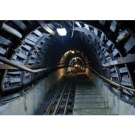 Fotobehang poster 3390 bergtrein tunnel rails