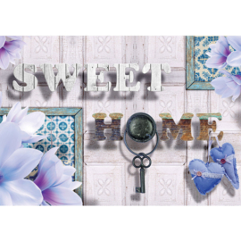 Fotobehang poster 2688 sweet home schilderij lijsten