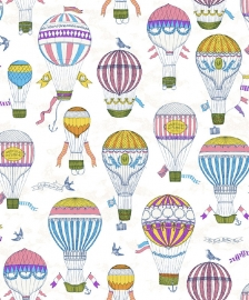 BE My adventures ma66126 luchtballon paars zalm aqua blauw kinder / baby