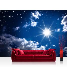 Fotobehang poster 0023 zon wolken hemel lucht