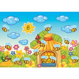 Fotobehang poster 3176 kinderkamer dieren bijen