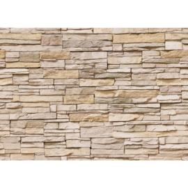 Asian stonewall vlies fotobehang stenen muur 400 x 280