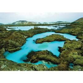 Fotobehang poster 2694 eiland bergen meer rotsen archipel
