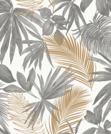 Jungle Fever Dutch jf3601 bladeren grijs goud wit