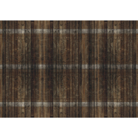 Fotobehang poster 1814 hout patroon bruin