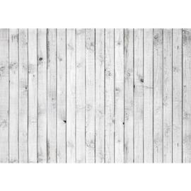 Fotobehang poster 0085 hout planken grijs wit