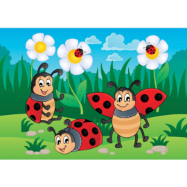 Fotobehang poster 4526 kinderkamer lieveheersbeestje