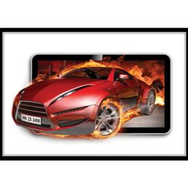 Fotobehang poster 3563 cars auto rood sportwagen