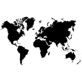 Fotobehang 3034 wereldkaart zwart wit