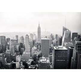 Fotobehang poster 0118 skyline new york big apple zwart wit