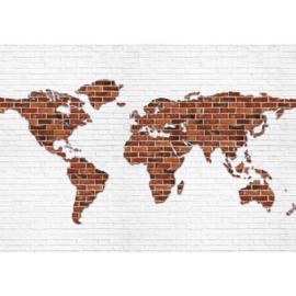 Fotobehang 3120 wereldkaart stenen