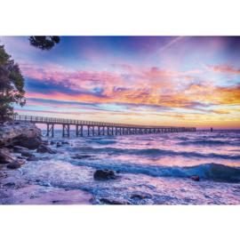 Fotobehang poster 3356 horizon pier zonsondergang
