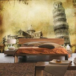 Fotobehang poster 0537 italie Pisa toren van pisa