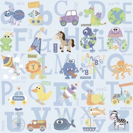 BE My adventures ma66132 alfabet letters blauw kinder / baby