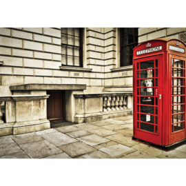 Fotobehang 1346 Engeland telefooncel rood