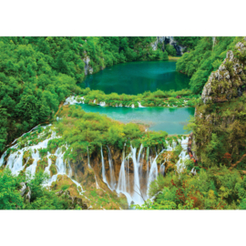 Fotobehang poster 2927 berg meer waterval