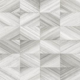 Dutch Trilogy FD 25379 blokjes streepjes grijs wit