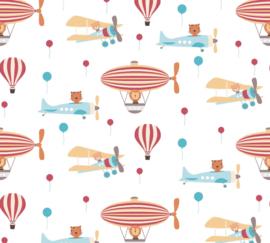 AS 381261 vliegtuig zeppelin luchtballon beer baby kinder