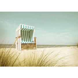 Fotobehang poster 4586 strandstoel zee strand