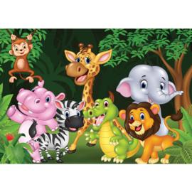 Fotobehang poster 4528 kinderkamer jungle