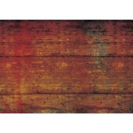 Fotobehang poster 2008 hout rood bruin