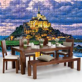 Fotobehang 3243 Frankrijk Le Mont Saint Michel puzzel kasteel
