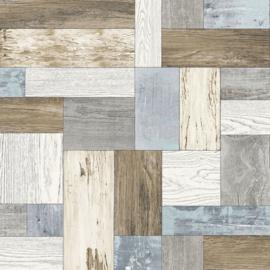 Dutch Trilogy FD 25384 planken hout groen bruin grijs wit