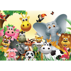 Fotobehang poster 2830 kinderkamer jungle dieren zoo