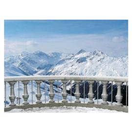 Fotobehang poster 2853 balkon alpen bergen sneeuw