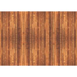 Fotobehang poster 1825 bruin hout planken