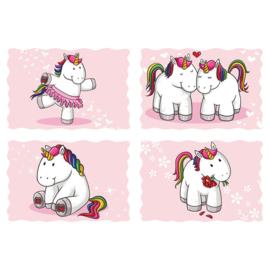 Fotobehang poster 4581 kinderkamer unicorn roze