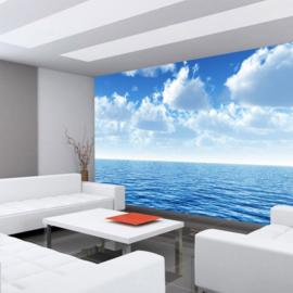 Fotobehang poster 0152 zee blauwe lucht wolken