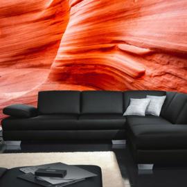 Fotobehang poster 0234 natuur rotsen woesternij rood