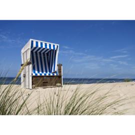Fotobehang poster 2831 strandstoel strand zee