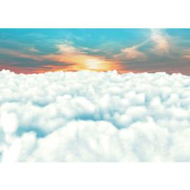 Fotobehang poster 1862 zon boven de wolken