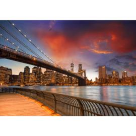 Fotobehang poster 0021 skyline new york big apple kleur