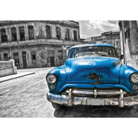 Fotobehang 1590 auto taxi cuba