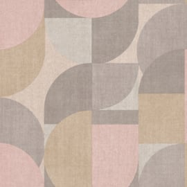 Jungle Fever Dutch jf3101 retro kwart rond roze beige grijs