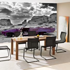 Fotobehang poster 0266 auto wrak paars natuur paars abstrakt