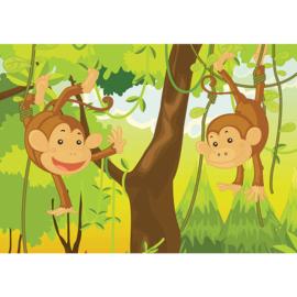 Fotobehang poster 1710 kinderkamer apen jungle