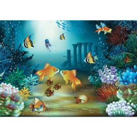 Fotobehang poster 2191 kinderkamer onderwater vissen