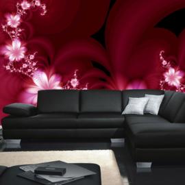 Fotobehang poster 0040 bloemen roze orchidee bloemen rank