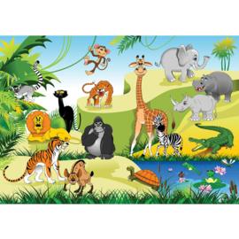 Fotobehang poster 4527 kinderkamer jungle