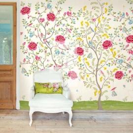 Eijffinger pip studio 341094 bloemen wit roze , Morning glory white