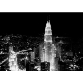 Fotobehang 0863 Maleisie petronas tower zwart wit